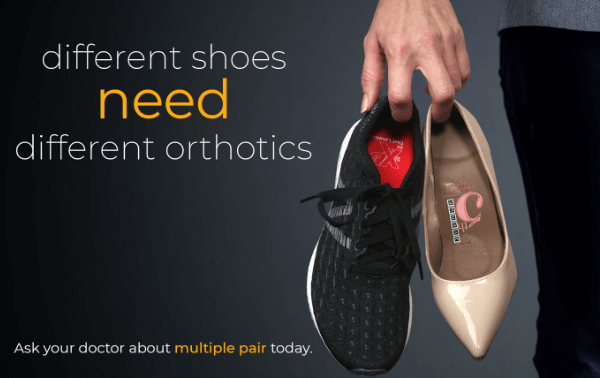 Benefit from multiple pairs of custom orthotics